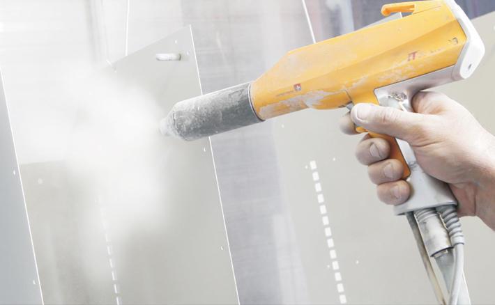 Verniciatura a polvere dell'alluminio
